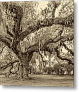 A Place For Dying Sepia 2 Metal Print