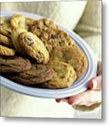 A Plate Of Cookies Metal Print