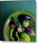 A Plate Of Vegetables Metal Print
