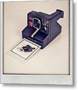 A Polaroid Of A Polaroid Taking A Polaroid Of A Polaroid Taking A Polaroid Of A Polaroid Taking A .. Metal Print