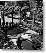 A Pond In An Ornamental Garden Metal Print