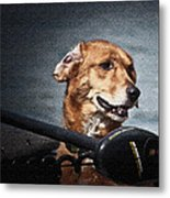 A Portrait Of A Golden Retriever Metal Print
