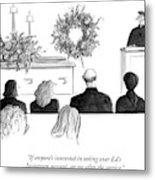 A Priest Makes A Eulogy Metal Print