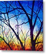 A Primary Sunset Metal Print