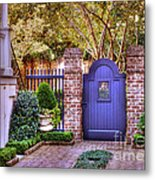 A Private Garden In Charleston Metal Print