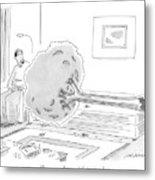 A Psychiatrist Or Psycho-analyst Sits Metal Print