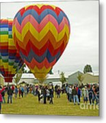 Albany Oregon Art And Air Show Hot Air Balloon Lift Off Metal Print
