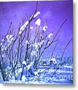 A Purple Winter Metal Print