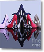 A Pyramid Of Shoes Metal Print