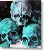 A Pyramid Of Skulls After Cezanne Metal Print