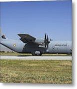 A Qatar Emiri Air Force C-130j-30 Metal Print