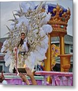 A Queen Of Carnival During Mardi Gras 2013 Metal Print