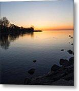 A Quiet Sunrise - Toronto Lake Ontario Metal Print