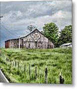 A Quilted Barn Metal Print
