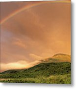 A Rainbow Appeared Over Mt. Washington Metal Print