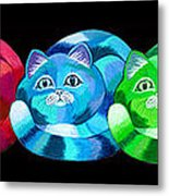 A Rainbow Cats 2 Metal Print