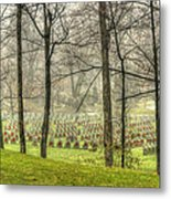 A Rainy Day At The Cemetery Metal Print