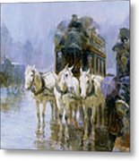 A Rainy Day In Paris Metal Print
