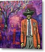A Real Buffalo Soldier Metal Print