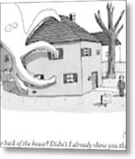 A Real Estate Agent Tries To Hide From Potential Metal Print by Zachary Kanin