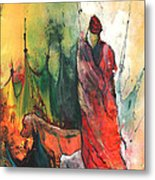 A Red Dog In Morocco Metal Print