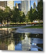 A Reflection Of Chicago Metal Print
