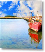 A Resting Boat Howth Ireland Metal Print by Jo Collins
