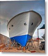 a resting boat in Jaffa port Metal Print