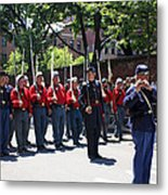 A Revolutionary Battalion Marching In The St. Patrick Old Cathedral Parade Metal Print