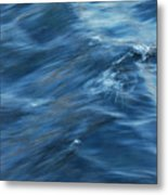 A River Flows Gently By Metal Print