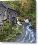 A River Flows Through It Metal Print