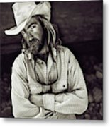 A River Guide Crosses His Arms In Front Metal Print
