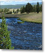 A River Runs Through Yellowstone Metal Print