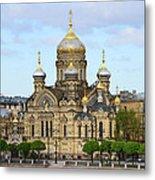 A River View Of Saint Petersburg Metal Print
