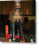 A Rocking Horse Of Many Colors Metal Print