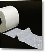A Roll Of Toilet Paper Metal Print