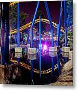 A Rollercoaster At A Theme Park In Usa Metal Print