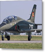 A Romanian Air Force Advanced Trainer Metal Print
