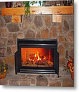 A Room With A Fireplace Metal Print