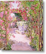 A Rose Arbor And Old Well, Venice Metal Print