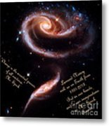 A Rose Made Of Galaxies For Spock Metal Print
