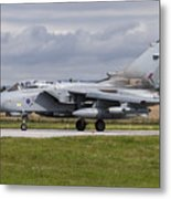 A Royal Air Force Tornado Gr4 Preparing Metal Print