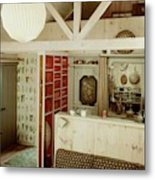 A Rustic Kitchen Metal Print