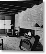 A Rustic Living Room Metal Print
