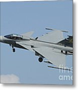 A Saab Jas 39 Gripen C Of The Royal Metal Print