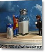 A Salt And Battery Metal Print