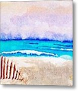 A Sand Filled Beach Metal Print