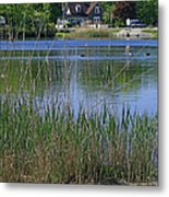 A Scenic View Of Round Pond  At The United States Military Academy Metal Print