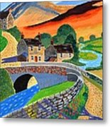 a Scottish highland lane Metal Print
