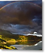 A Scottish Highland Rainbow Kylesku Metal Print by John Farnan